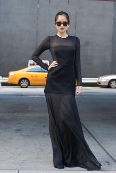 Fashion Week Street Style Photo 10  love the dress !!!!!