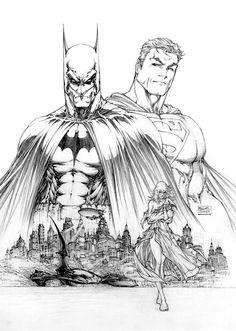 Superman/Batman #8 inks