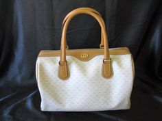 Authentic Vintage 1980's GUCCI Small GG Monogram LARGE Speedy Boston Doctor Bag by CLASSYBAG on Etsy