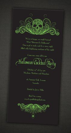 These spooky party invitations are perfect for your creepy adult Halloween party! I can also create matching items, such as favor bag tags or creepy