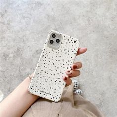 White Wave Point Cute Phone Cases For iPhone 12 mini 11 Pro Max 7 8 plus SE 2020 X XR XS Max | Touchy Style Cute Iphone 5 Cases, Cute Cases, Iphone Phone Cases, Silicone Phone Case, Iphone Models, Iphone 8 Plus, Mini, Wave, Polka Dot