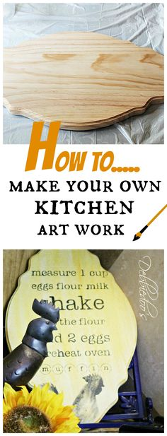 How to make your own kitchen art work for less than $5.00