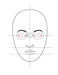 Resultado de imagem para base para desenhar rosto