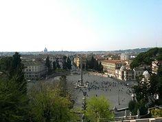 Piazza del Popolo - Roma - Vista panoramica dal Pincio