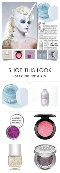 """""""uniquorn"""" by jennifer ❤ liked on Polyvore featuring beauty, FCTRY, The Letter, MAC Cosmetics, Nails Inc. and Urban Decay"""