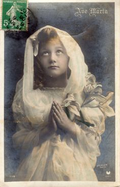French antique postcards little girl 298 by Fairymelodycollect