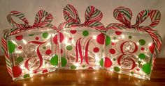 Personalized Christmas Glass Box.... love this!