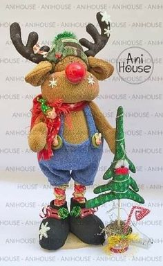 Christmas Decorations, Christmas Ornaments, Holiday Decor, Christmas Patterns, Ideas Para, Reindeer, Diy And Crafts, Projects To Try, Xmas