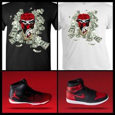 """EXCLUSIVE TEE /T-SHIRT TO MATCH THE NIKE AIR JORDAN BANNED BREDS! """"BANNED LIFE"""" #COPEMCUSTOMS #GraphicTee"""