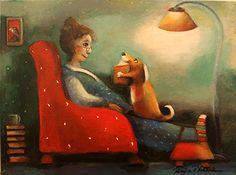 Tell Me A Story by Raija Nokkala - GINA Gallery of International Naive Art