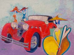 Chic Magnet, oil enhanced giclee, on stretched canvas, hang ready, charles carter by charlescarterartist on Etsy