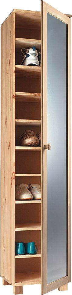 tall pine shoe cabinet with mirror door projects to try. Black Bedroom Furniture Sets. Home Design Ideas