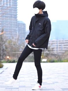 シンプルなマウンテンパーカーコーデ👦🏻🔖 インナーにGUのチェックシャツを着てレイヤードさせ Asian Men Fashion, Mens Fashion, Style Fashion, Nike Jacket, Athletic, Suits, How To Wear, Jackets, Clothes