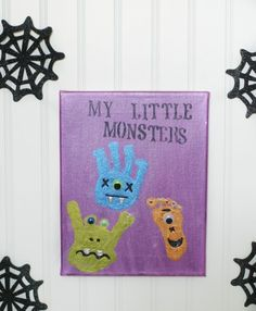 Monster Handprint and Footprint Art - Fun Family Crafts