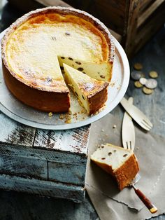 Italian ricotta cheese cake Ingredients - 55g (⅓ cup) sultanas. 80 ml (⅓ cup) marsala (Sicilian fortified wine). 250g mascarpone. 1.2 kg fresh ricotta (see Note). 150g (⅔ cup) caster sugar. 3 eggs. 2tsp vanilla extract. 1 orange zested. 1 lemon zested. 2 tbsp plain flour Sweet shortcrust pastry - 350 g (2⅓ cups) plain flour. 100 g pure icing sugar, sifted, plus extra, to dust. 150g cold unsalted butterchopped. 1egg lightly beaten
