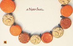 https://flic.kr/p/AfTEhm   polymer clay fall necklace   stamped with different jewelry pieces and buttons
