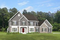 Colonial House Plan with 2723 Square Feet and 4 Bedrooms from Dream Home Source   House Plan Code DHSW076686