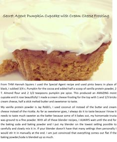 Secret Agent Pumpkin Cupcake with Cream Cheese Frosting