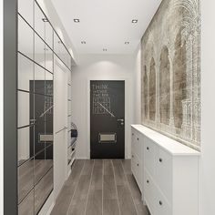 modern corridor design with concrete floor and indirect . modern corridor design with concrete flo Shabby Chic Picture Frames, Interior Design Examples, Design Ideas, Narrow Entryway, Decoration Entree, Vertical Storage, Minimalist Apartment, Condo Living, Living Rooms