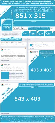 Ever wanted all that useful Facebook timeline information in one place? Image sizes, hints, tips?  Here it is! http://turquoisetiger.co.uk/2013/02/turquoise-tigers-vitally-important-facebook-infograph/