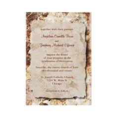Elegant Mocha Floral Formal Wedding Invitation by bellabridals