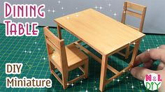 6 Industrious Tips: Painted Dining Furniture Bathroom dining furniture makeover benches.Rustic Dining Furniture Home Decor. Miniature Chair, Miniature Kitchen, Miniature Furniture, Dollhouse Furniture, Diy Dining Table, Outdoor Dining Furniture, Diy Dollhouse, Dollhouse Miniatures, Haunted Dollhouse