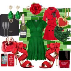 Gorgeous Christmas outfit. I especially love the red peacoat :)