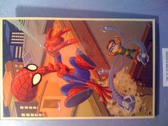 American Dad/Spidey/Doc Oc parody on display at the American Dad offices in LA.