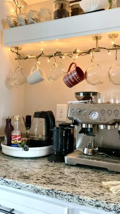 Coffee Bar Station, Coffee Station Kitchen, Tea Station, Coffee Bars In Kitchen, Coffee Bar Home, Home Coffee Stations, Coffee Wine, Coffee Bar Ideas, Coffee Room