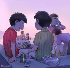 """Oso: """"How far can we go?"""" (i think this was the official caption on takosu's twitter)"""
