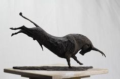 Sculpture Greek Bull Sculpted by Andrea Blasich