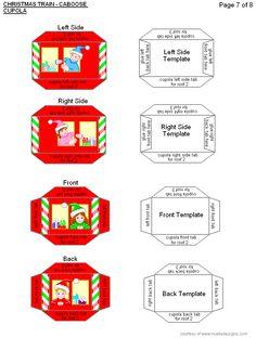 Christmas Train, Santa Christmas, Christmas Colors, All Things Christmas, Christmas Ideas, Christmas Houses, Christmas Paper Crafts, Christmas Decorations, Diy Doll School Supplies