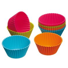 12pcs/lot #Cupcake #Liners mold 7CM Kitchen Craft Colour works Silicone Cupcake #Cases forma de silicone Cake bakeware drop ship - free shipping worldwide
