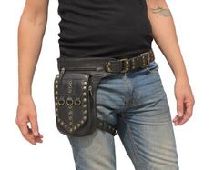 Leather Utility Belt, Leather Bra, Leather Holster, Black Leather, Leather Pouch, Snake Skin, Thigh Bag, Art Test, Leg Harness