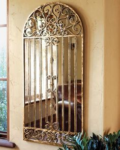 "H45GA Dr. Livingston ""Garden Gate"" Mirror"