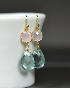 Bridesmaid Gift  Bridal Drop Earrings Wedding by thefabwedding2, $29.99