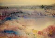 Morning Mist watercolour by Ruth Hayes www.ruthhayes.ca