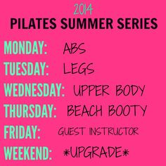 Pilates Summer Series: Day #1 (a free 7 minute beach ab workout)
