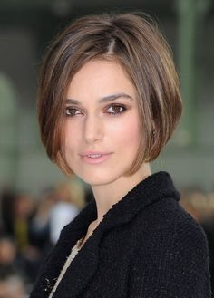 Add some additional sophistication to the current short bob hairstyle by creating the front flicks of this bob hairstyle bit your chin. Description from stylemaddie.blogspot.com. I searched for this on bing.com/images
