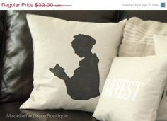 ON SALE 16x16 H book reading Pilgrim by MadelleineGrace, $25.60