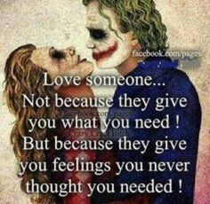 True love somone for what you feel with them.