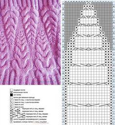 Новости Leaf Knitting Pattern, Cable Knitting Patterns, Knitting Stitches, Free Knitting, Chrochet, Knit Crochet, Crochet Hats, Knit World, Stitch Patterns