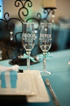 Tiffany Blue Wedding cups
