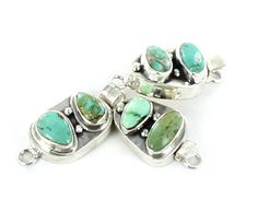CARCIO LAKE TURQUOISE CLASP 2 STONE FREE FORM from New World Gems