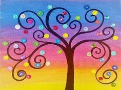 art for kids canvas - kunst für kinder leinwand Acrylic Painting For Kids, Easy Painting For Kids, Easy Canvas Painting, Simple Acrylic Paintings, Rainbow Painting, Acrylic Painting Tutorials, Art For Kids, Kids Canvas Art, Diy Painting