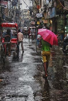 Rain in Old Delhi by Eve Voyevoda on 500px
