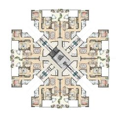 High Rise Apartment Building Floor Plans - Beste Awesome Inspiration - Ashley Home Building Layout, Building Design, Plano Hotel, The Plan, How To Plan, Residential Building Plan, Hotel Floor Plan, Architecture Résidentielle, High Rise Apartments