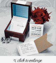 Wooden Memory Note Box - Guest Book Ideas For Wedding - Guest Book Alternative
