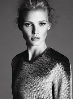 Lara Stone for Calvin Klein. She looks stunning