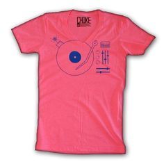 Choke Shirt Company - Drop beats, not bombs. Drop beats is printed on American Apparel's Neon 50/50 blend tee. Made in the USA. Free shipping to anywhere in the US. $24 #dj #music #neon